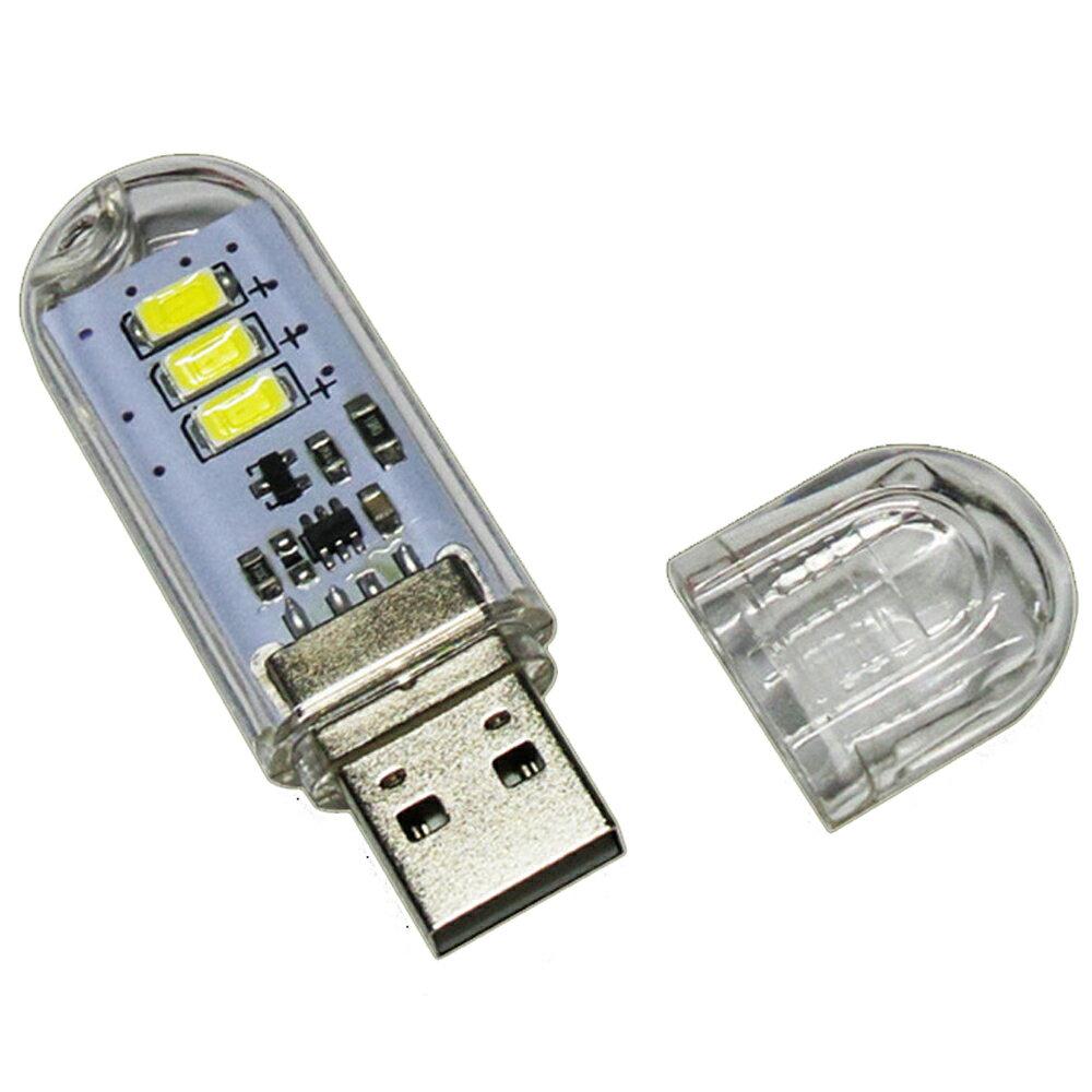 『タッチスイッチ搭載USBメモリー型3LEDライト』