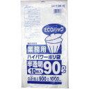 業務用ごみ袋 ハイパワーポリ袋 半透明 90L 0.018×900×1000mm 10枚入