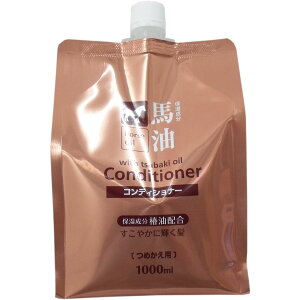 Acondicionador de aceite de caballo Combinación de aceite Tsubaki Recarga 1000 ml