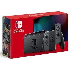 新型 Nintendo Switch ニンテンドースイッチ 本体 Joy-Con グレー 任天堂 ゲーム機 プレゼント ギフト 家族 ファミリー [ラッピング対応可]1-2営業日