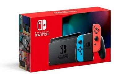 【キャッシュレス5%還元 全国送料無料 入荷後の発送】新型 Nintendo Switch ニンテンドースイッチ 本体 Joy-Con (L) ネオンブルー/ (R) ネオンレッド 任天堂 [ラッピング対応可]
