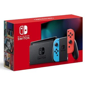 新型 Nintendo Switch ニンテンドースイッチ 本体 Joy-Con (L) ネオンブルー/ (R) ネオンレッド 任天堂 ゲーム機 プレゼント ギフト 家族 ファミリー [ラッピング対応]2-3営業日