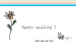 【即納】 メッセージカード 3-a10 マーガレット・Happy wedding
