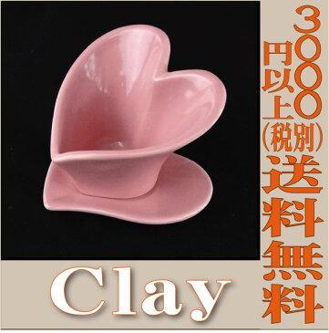 【即納】 プリザーブドフラワー 花材 c231-240-292-510 ピンク Heart Pot and Saucer【10L10W8Hcm】 花器 クレイ clay