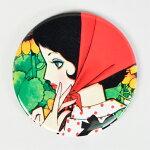 缶ミラー・赤いスカーフの少女