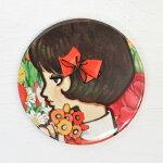 中原淳一缶ミラー・女の子とお花