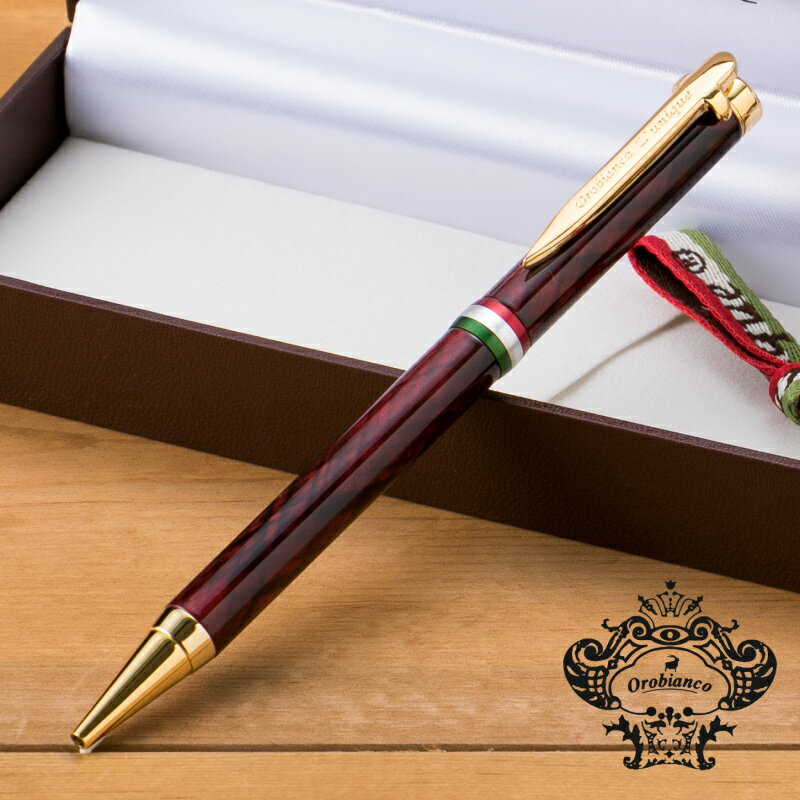 Orobianco(オロビアンコ) ルニーク クローチェ ダークレッドGT ボールペン 1951102