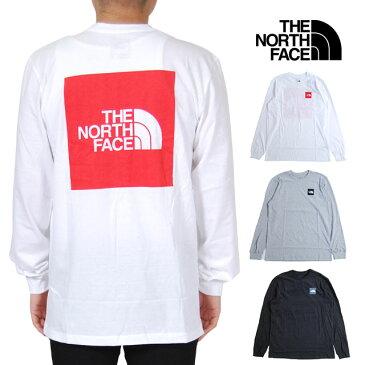 ノースフェイス 長袖Tシャツ メンズ ボックスロゴ ロンT レディース S M L XL XXLサイズ ホワイト ライトグレー ブラック 白 黒 USモデル 大きいサイズ THE NORTH FACE LONG SLEEVE BOX LOGO TEE