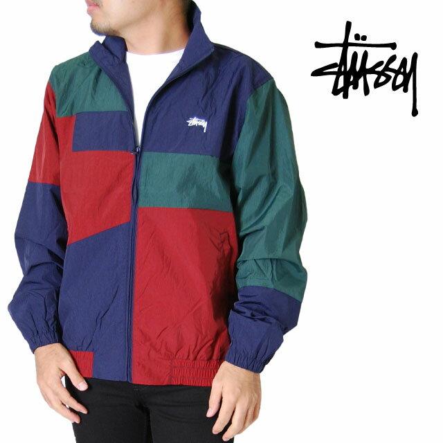 メンズファッション, コート・ジャケット STUSSY S M L XL XXL 2L 3L PANEL TRACK JACKET NAVY 2XL