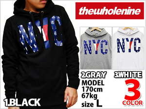 WPH004-WH13 THE WHOLENINE MADE IN NYC PULL OVER HOODIE SWEAT SHIATS WHITE GRAY BLACK ザ ...