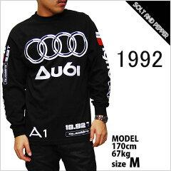 あす楽対応 1992 AU61 LONG SLEEVE T-SHIRTS BLACK アウディ ロングスリーブ Tシャツ 長袖 ブラ...