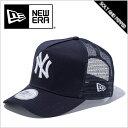 送料無料 NEWERA ニューエラ CAP Dフレームトラッカー ニューヨーク ヤンキース NAVY ネイビー 紺 WHITE ホワイト 白 スナップバック メッシュ メンズ 男性 レディース 女性 キャップ 帽子 ハット 11120140