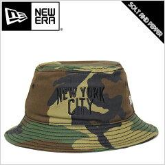 NEWERA ニューエラ BUCKETー01 BUCKET HAT WOODLAND CAMO NEW YORK CITY バケット ハット ウッ...