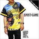 アウトレット ポストゲーム ベースボールジャージ POST GAME PAKER39 BASE BALL JERSEY TEE BLACK YELLO...