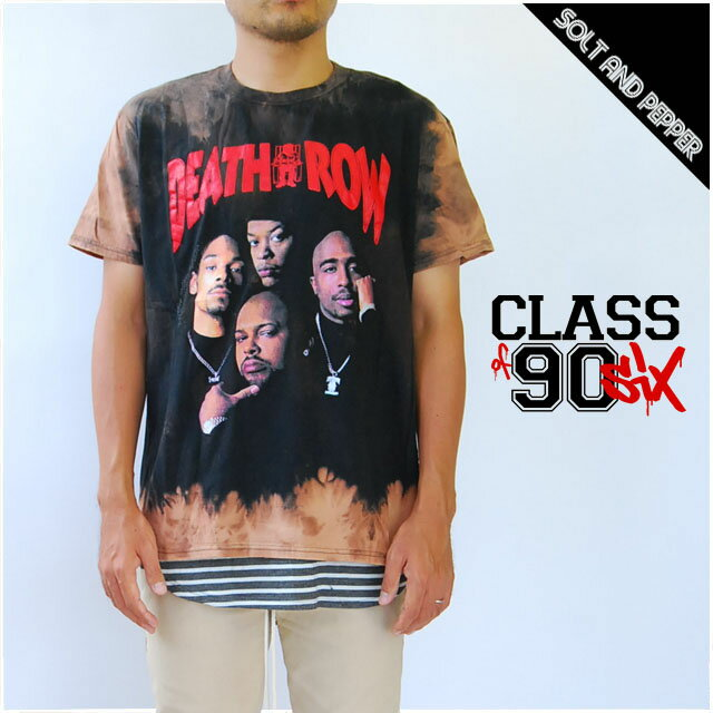 トップス, Tシャツ・カットソー CLASS OF 90SIX DETH ROW RECORDS HAND BLEECHED VINTAGE T-SHIRTS SNOOP DOGG DR DRE 2PAC T-SHIRT T BLACK RAP T