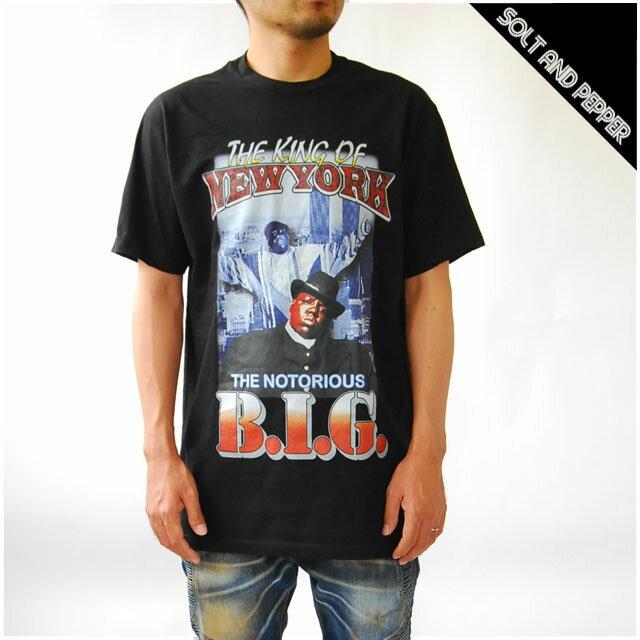 トップス, Tシャツ・カットソー  THE NORTORIOUS BIG THE KING OF NEWYORK BIG T-SHIRT T BLACK RAP T