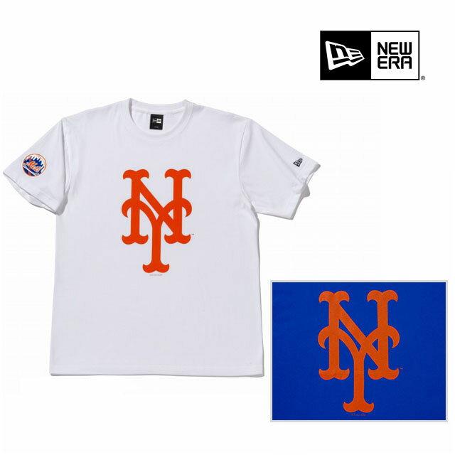 トップス, Tシャツ・カットソー NEWERA COTTON TEE MLB NEW YORK METS BIG LOGO WHITE ROYALBLUE T NEW ERA