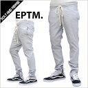 【送料無料】EPTM エピトミ ZIPPERED BREAK BEATS PANTS GRAY ジッパー ブレイク ビーツ パンツ スリムパンツ グレー 灰色 新作 メンズ 男性 レディース 女性 eptm