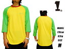 【送料無料】SPECIAL ONE CLOTHING WE RULE RAGLAN 3/4 TEE YEL スペシャル1 ラスタカラー ラグラン Tシャツ 七分袖 レゲエ ルール SP1 SPECIAL1/スペシャル1
