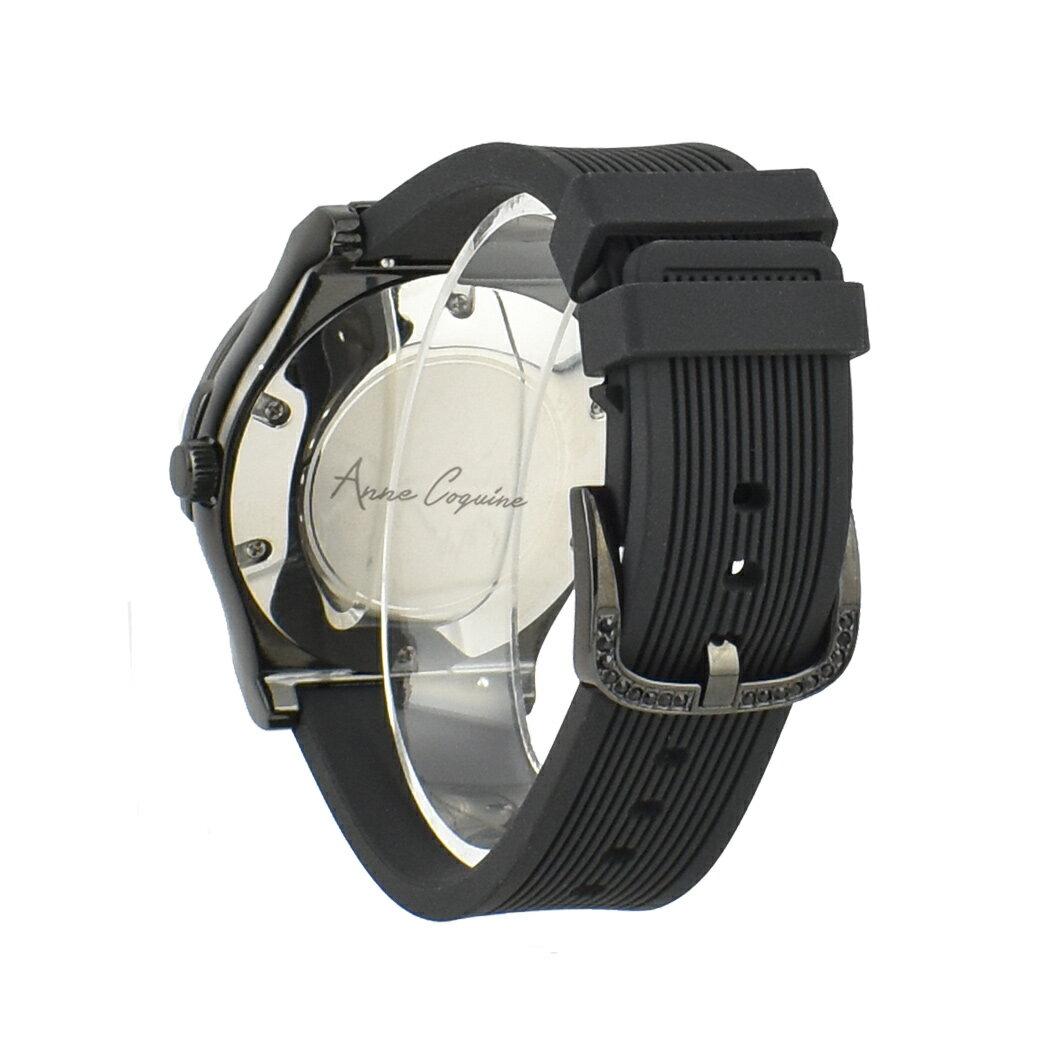 <7月上旬発送予定>【公式】アンコキーヌ Anne Coquine 腕時計 時計 オクタゴン クロス ブラック 黒 ラバーベルト 1350-0202 ジュエリーウォッチ スワロフスキー ゴージャス メンズ レディース ユニセックス ブランド 高級 ぐるぐる くるくる グルグル クルクル