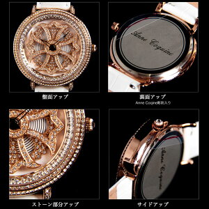 【AnneCoquine】グルグル時計★鶴モチーフビッグフェイスウォッチ~GOLD~-anne-92345f画像