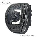 **4月中旬以降発送予定**Anne Coquine(アンコキーヌ)ビッグレクタングルスワロ(ブラック×ブラック) 1347-0202スワロフスキーユニセックス時計メンズ時計ラグジュアリー腕時計プレゼント記念日