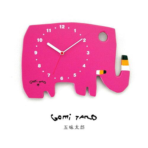 人気絵本作家 五味太郎デザイン GOMI TARO オリジナル時計 ゾウ 黒 MADE IN JAPAN GT-ELEPHANT-RSP...