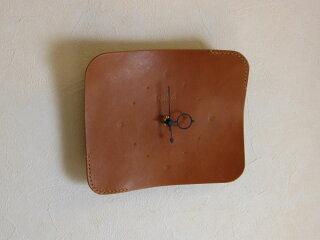 ハンドメイドレザークロック革時計*ブラウン