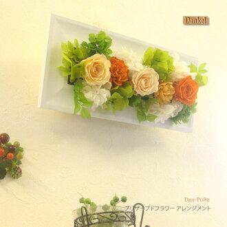 Karenai flower preserved flower arrangement wall-mounted wood frame 2 WAY DAN-P082fs3gm