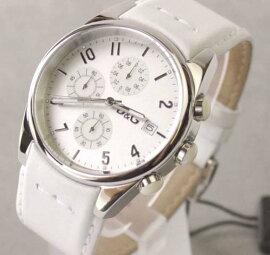 D&GTIMEドルガバSANDPIPERクロノグラフ時計ホワイト