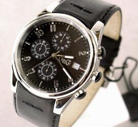 D&GTIMEドルガバSANDPIPERクロノグラフ時計ブラック