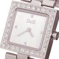 D&GTIMEドルガバDAY&NIGHTレディースジルコニア付SSベルト腕時計DW0031