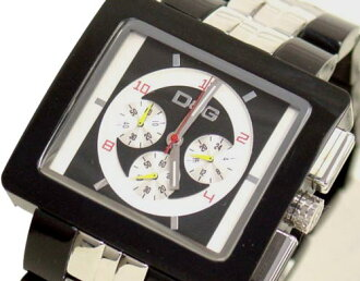 D & G TIME d & g CREAM Chronograph Watch DW0059 black x silver 10P17May13