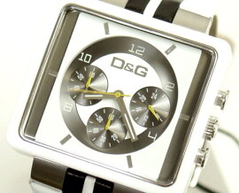 D&GTIMEドルガバCREAMクロノグラフ時計DW0066ホワイト×ブラック