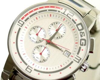 D & G TIME d & g BIG FISH Chronograph Watch DW0118 silver SS belt 10P01Sep1310P13Sep1310P25Sep13