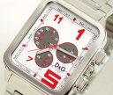 D&G TIME ドルチェ&ガッバーナGERONIMO クロノグラフ SSベルト時計 シルバー DW ...