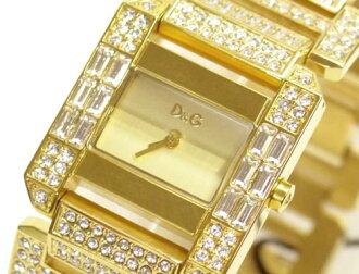 D & G TIME d & g ROYAL ladies SS gold belt watch DW0220