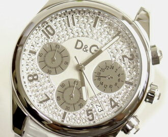 D&G TIME ドルガバ SANDPIPER chronograph clock DW0257 white 10P17May13