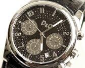D&G TIME ドルチェ&ガッバーナSANDPIPERクロノグラフ時計 DW0259 ブラック【ラッピング無料】【楽ギフ_包装】【10P11Mar16】【05P03Dec16】
