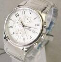 D&G TIME ドルチェ&ガッバーナ SANDPIPERクロノグラフ SSベルト時計 ホワイト 3...