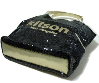 KITSONスパンコールトートバッグ