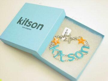 KITSONブルーロゴチャームブレスレット219434