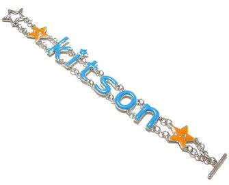 KITSONブルーロゴチャームブレスレット219434-CHARM-BRACELET-BLUE