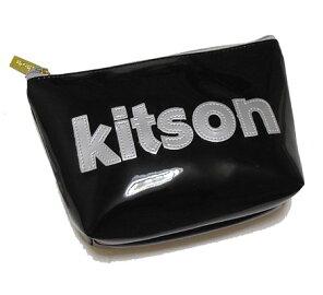 KITSON/キットソンポーチブラック×シルバー