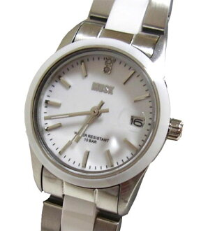 MUSK and musk ladies stainless steel + ceramic belt wristwatch MA-1218-03