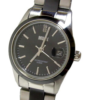 MUSK and musk ladies stainless steel + ceramic belt wristwatch MA-1218-05