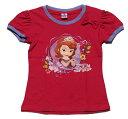 【まとめ割り対象商品】【メール便送料無料】Disney(ディズニー)Sofia the First Regular Topちいさなプリンセス ソフィア Tシャツ マゼンタ【子供服 6歳 8歳 10歳】