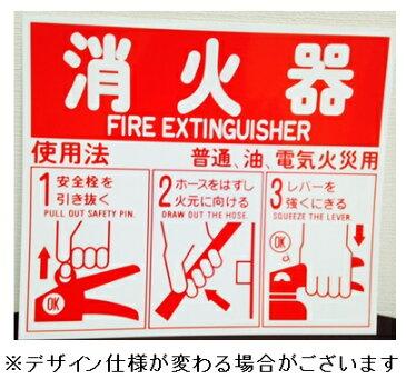 消火器使用法標識 表示板 パネル