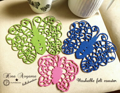 Washablefeltcoaster蒼山日菜★PAPERMAKECollabo
