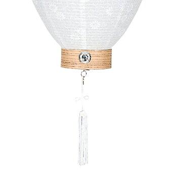 家紋入れ無料の新盆用白紋天提灯。LEDコードレス電池灯付のお買い得商品です。